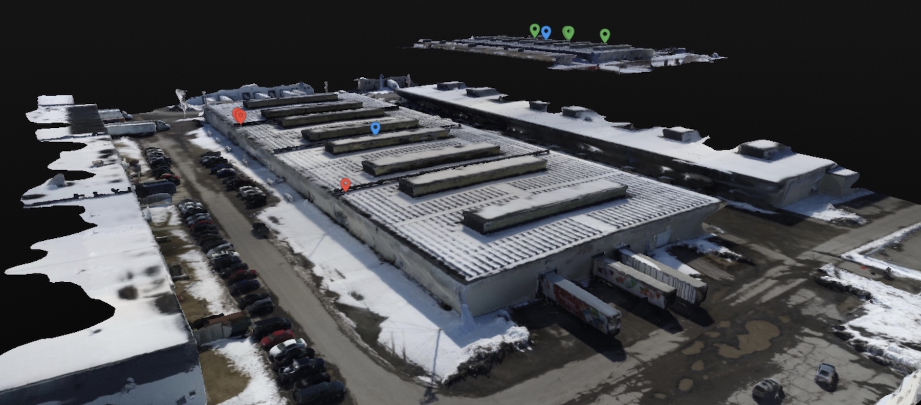 3D model, solar panels, construction, inspections, drones