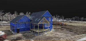 3D model, construction, home, new, progress, building, drone, aerial