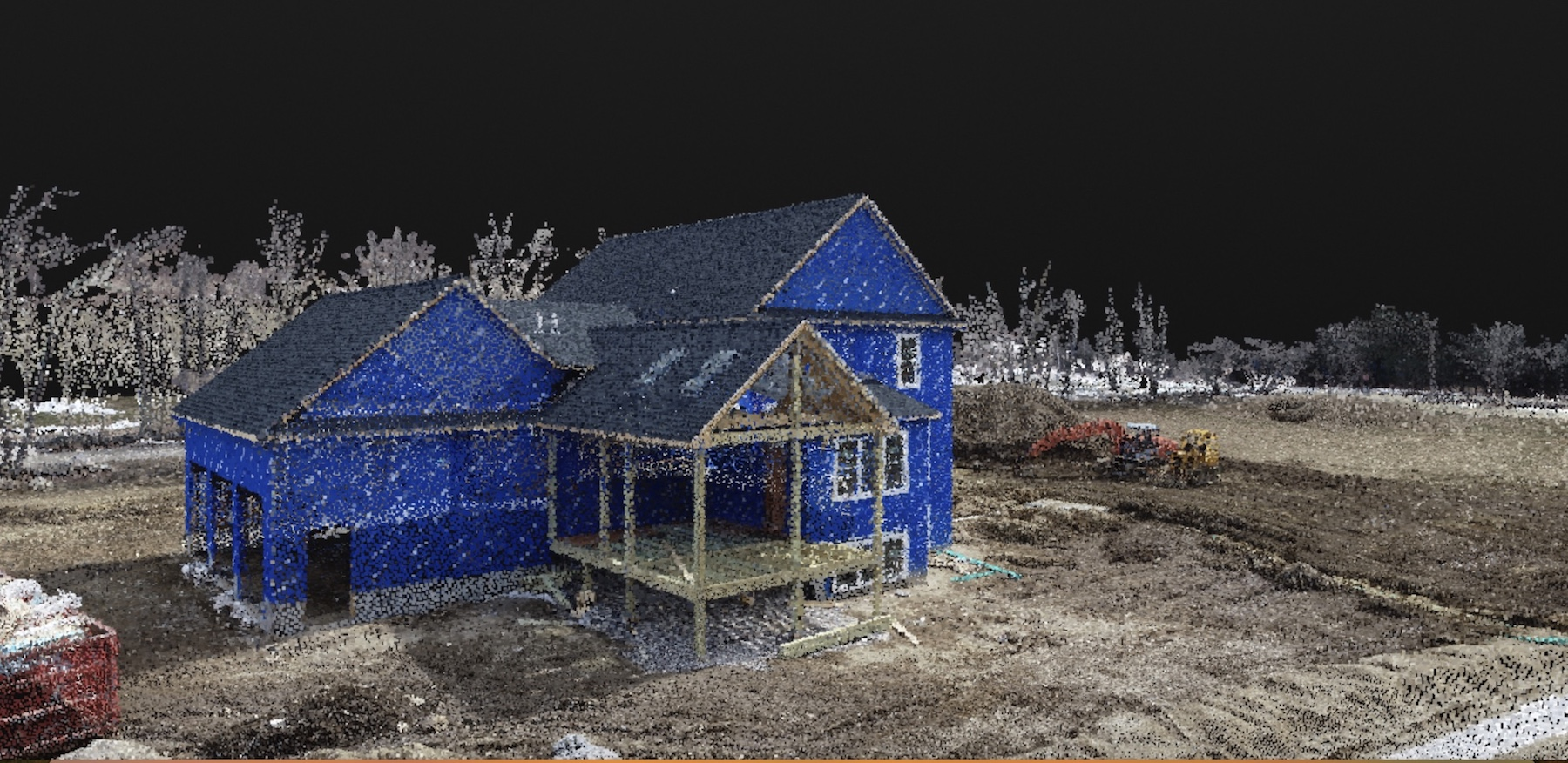 construction, home, building, progress, point cloud